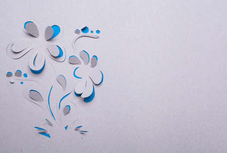 Origami  handmade cutout flower  photo