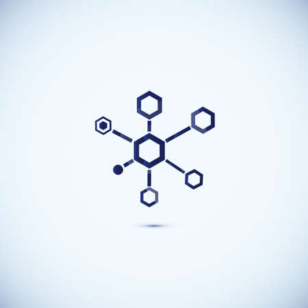 Molecular structure. Abstract technology and business icon photo