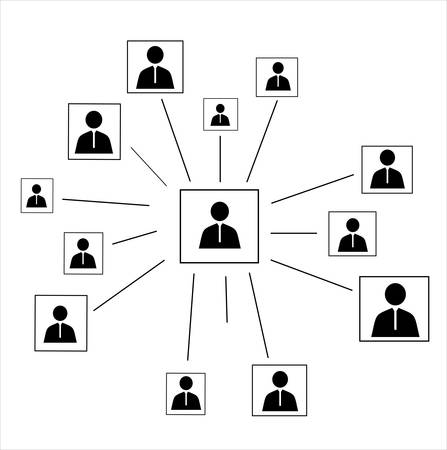 equal opportunity: Human connection.Abstract business concept.