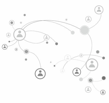 Human connection. Abstract business concept , vector illustration Stock Vector - 23546411