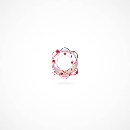 subsidiary: Abstract Molecular structure over the white background Illustration