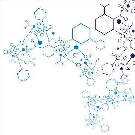 Abstract moleculaire DNA-structuur achtergrond, vector illustratie