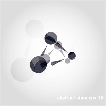 Molecular structures over the white background, vector illustration Vector