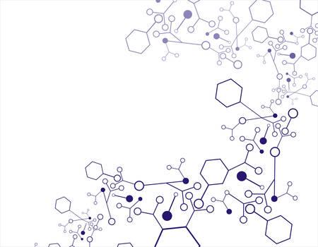 vector  molecular: Abstract molecular dna structure background, vector illustration Illustration