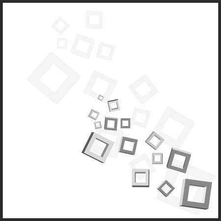 Abstract geometric background with cubes, vector illustration Vector