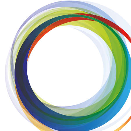 Abstract technology colorful circles over the white background photo