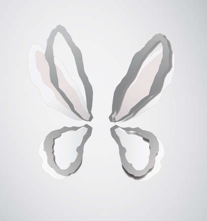 swill: abstract vector butterfly over the white background