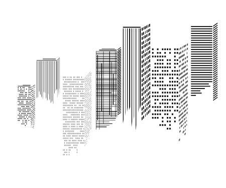 Resumen morden ciudad rascacielos iconos, ilustración vectorial Foto de archivo - 23570789
