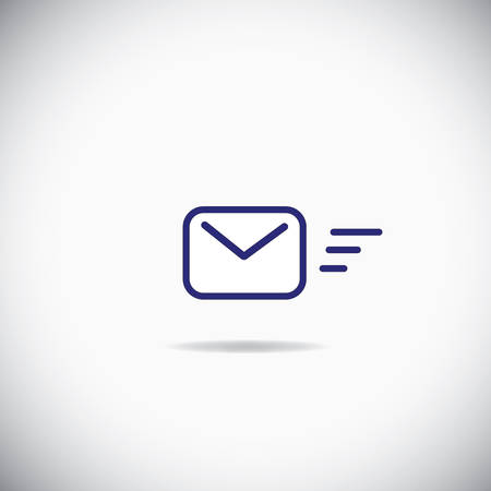 email icon: Sending Message Icon over the white background Illustration