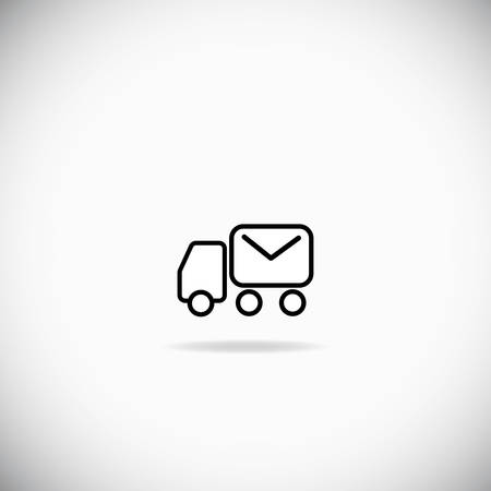 usps: Abstract Mail truck over the white background Illustration