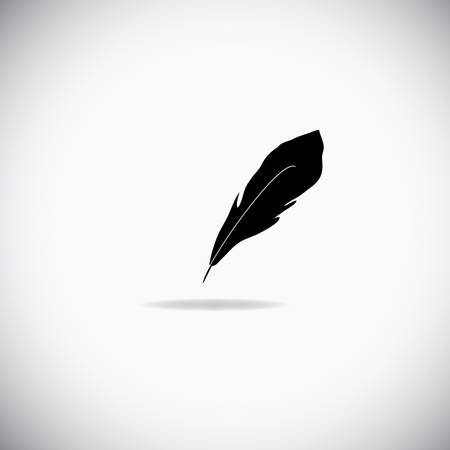 Illustration of feather over the white background Vector