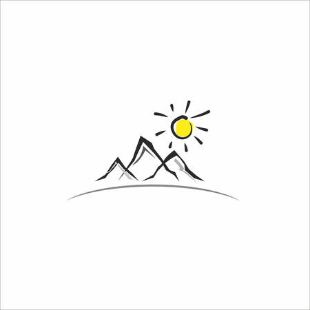 Mountain icon Stock Vector - 23570857