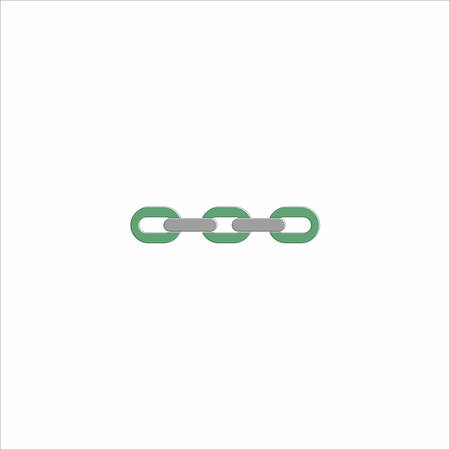 Chain icon in green color over the white