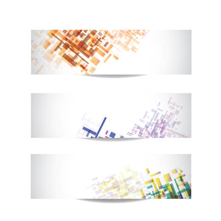 Abstract Vector Business Cards over the white Vector