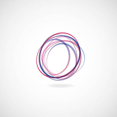 abstract endless  swirl on the white background Vector