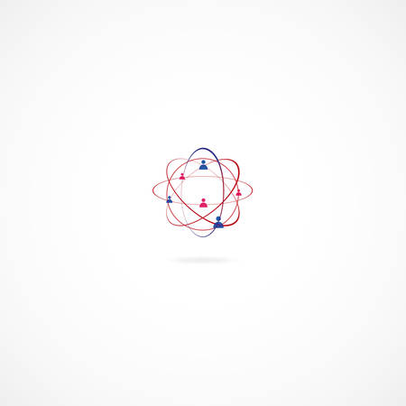 subsidiary: Network abstract Illustration over the white background Illustration