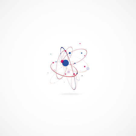 subsidiary: Molecular abstract structure over the white background Illustration