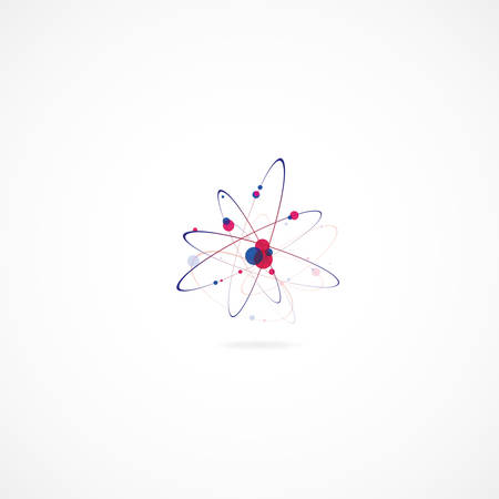 Molecular abstract structure over the white background Vector