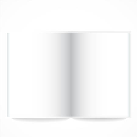 Open book with white pages. Illustration on white Stock Vector - 24681430