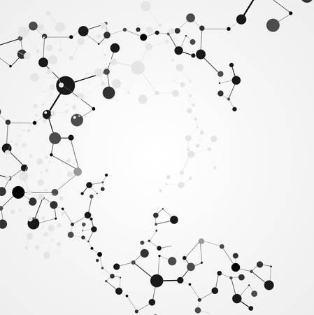 Medical modernen Infografik-Design. Abstrakt molekularen Struktur.