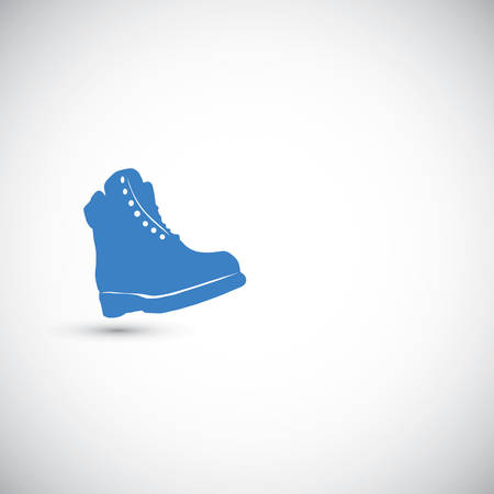military boots: Boots  vector illustration on the grey background Illustration