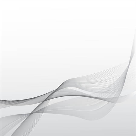 Abstract waves on the gray background