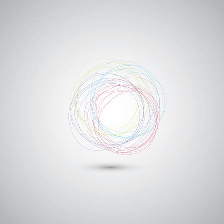 arcs: Hand drawn circles on the gray background Illustration