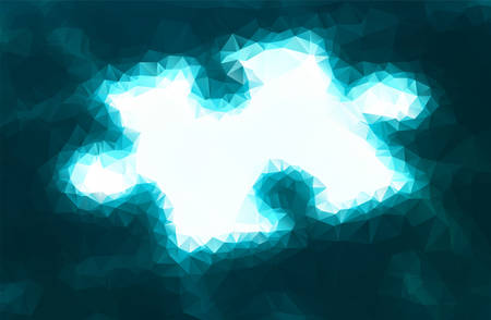 Vector illustration of enlighted puzzle consisted of triangles Vector