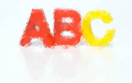 playschool: Vector illustration of letters ABC consisted of triangles Illustration