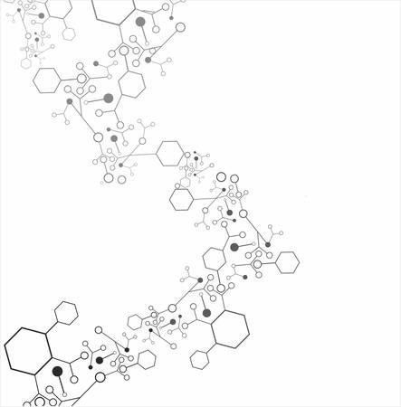 Molecule structure over the white background, vector Illustration