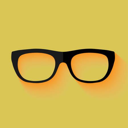 Glasses with a black frame - vector illustration Vector