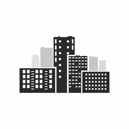 illustration of city - skyscrapers over the white Vector