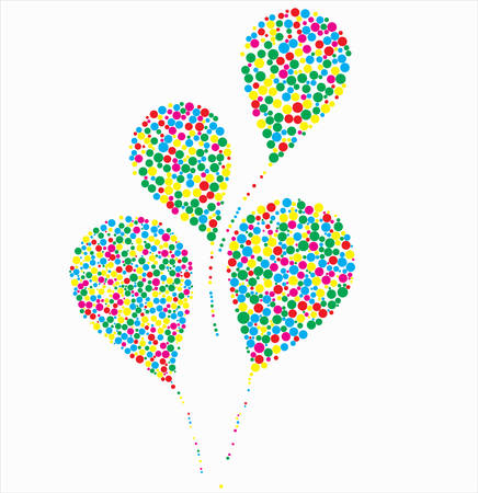 air baloon: illustration of balloons against the white Illustration