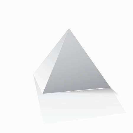 balanced scorecard: Pyramid icon for business concept background. Vector illustration.