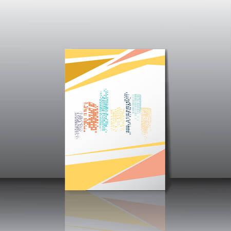 City panorama business card Vector