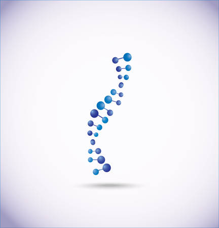 DNA and molecule symbols Illustration