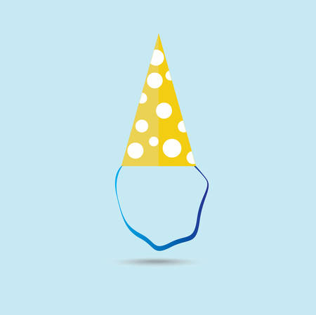 dressing up party: Party hat. Vector.