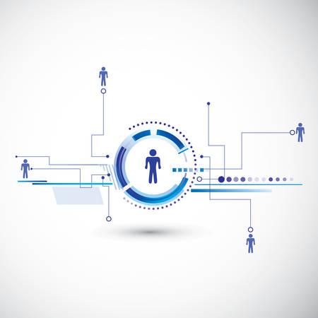 Human model connection  イラスト・ベクター素材