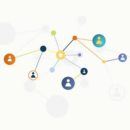 Abstract  color social network concept- vector illustration Vector