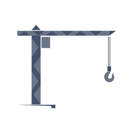 turret: Turret slewing crane icon Illustration