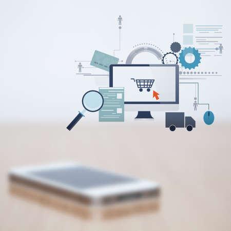 Blurred mobile phone