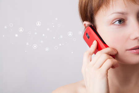 e systems: Woman on the phone