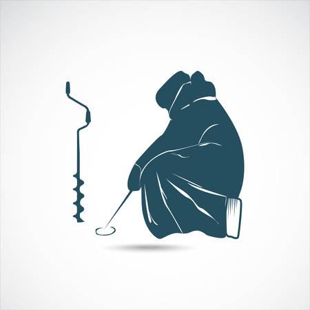 auger: Winter fishing Illustration