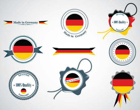 made in germany: Made in Germany - seals, badges. Illustration