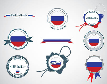 Made in Russia - seals, badges. Vector