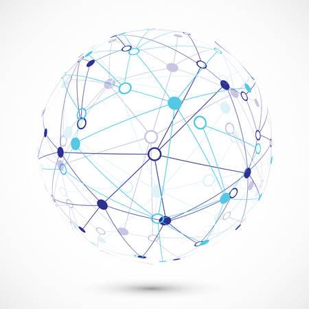 Un réseau mondial Banque d'images - 37067390