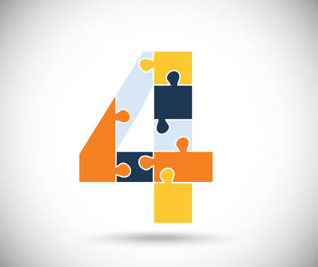 numbers clipart: Number four
