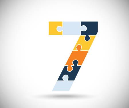 juniors: Number seven Illustration