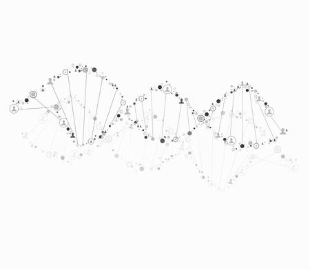 consist: DNA spiral consist of human Illustration