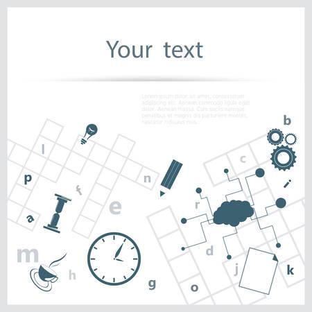 crossword: Crossword background Illustration